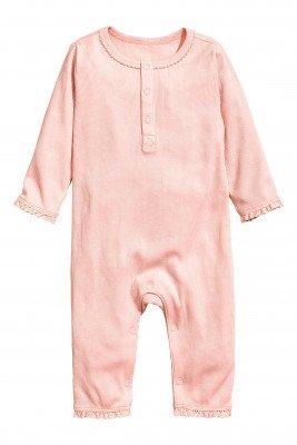 Пижама из трикотажа в рубчик