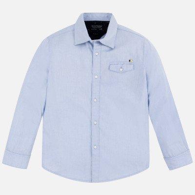 Рубашка с заплатками на локтях