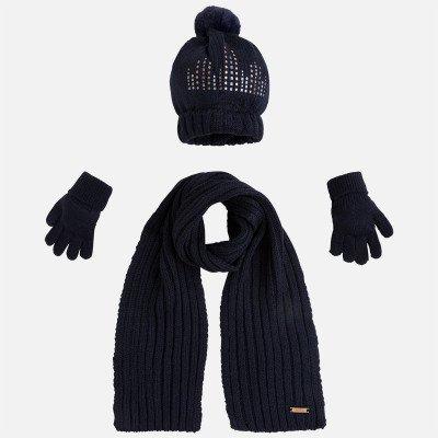 Набор из шапки, шарфика и перчаток