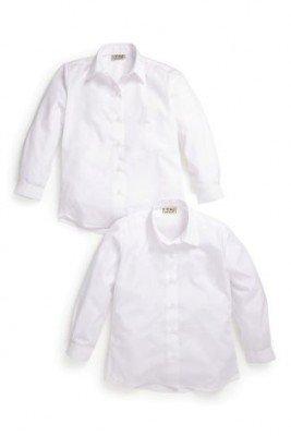 Белые блузы с длинными рукавами, 2 шт.