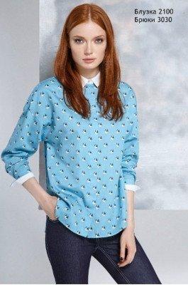 Блуза с оригами Lea Lea