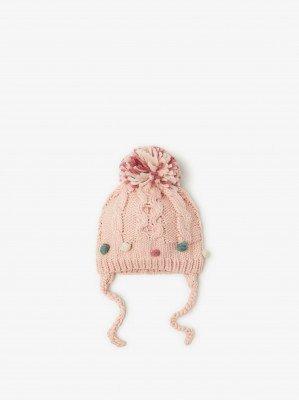 Вязаная шапка с бубонами