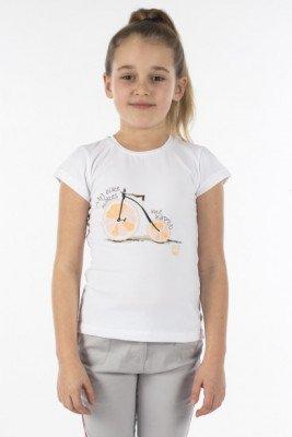 Топ с велосипедом-апельсином