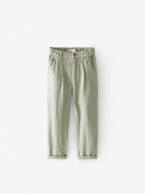 Льняные брюки слоучи