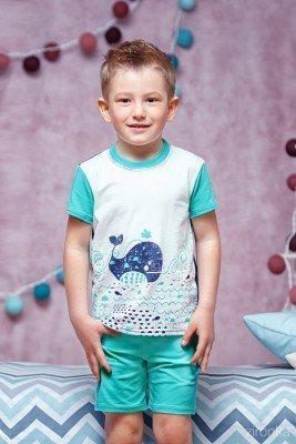 Летняя пижама с китом на мальчика