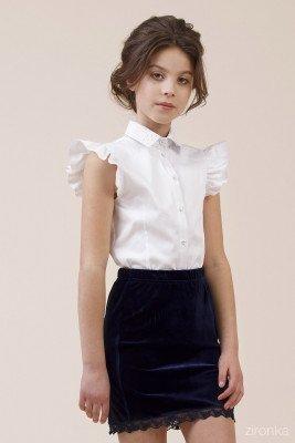 Блуза с рукавами-крылышками