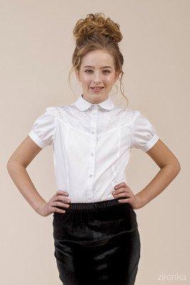 Блуза с коротким рукавом на манжете