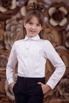 Блузка классическая с длинным рукавом